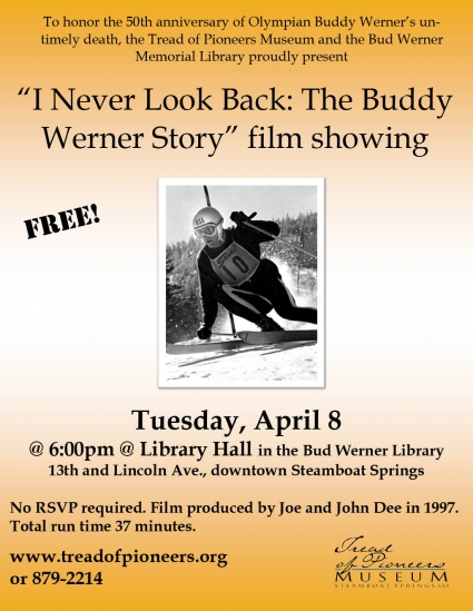 """I Never Look Back: The Buddy Werner Story"" film showing"