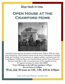 Open House at the Historic Crawford Home
