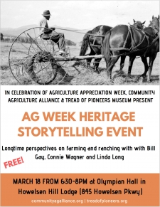 AG Week Heritage Story Telling Event
