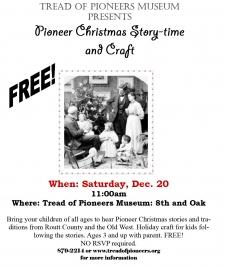 Pioneer Christmas Story-time and Craft
