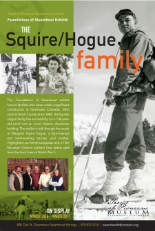 Foundations of Steamboat Exhibit: The Squire/Hogue Family